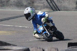 Owen Paterson at Knockhill minimoto, May 2016, photo copyright Trudi.