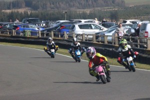 Zoe leads at Knockhill © Trudi